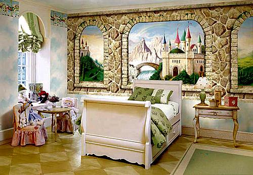 Спальня принцессы с росписю на стенах