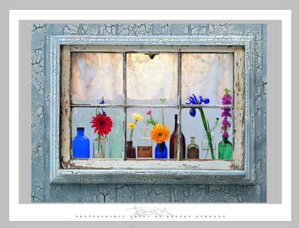 фальшивое ненастоящее окно стикер наклейка фотообои кошко с цветами