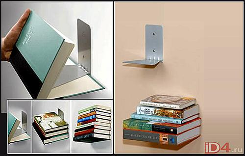 Книги, парящие на стене