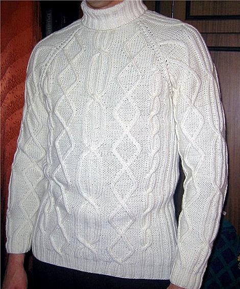 Схемы вязания мужских свитеров фото.