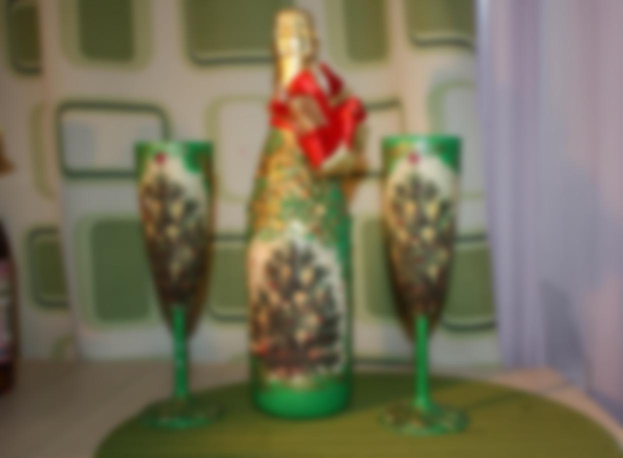 Как украсить бутылку шампанского на Новый год 2020 своими руками: фото пошагово || Как оформить шампанское на новый год