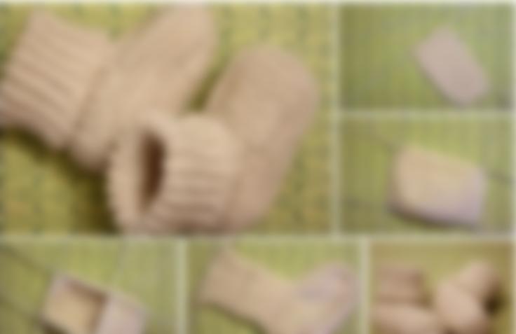 пинетки спицами для новорожденных схемы и описание фото видео