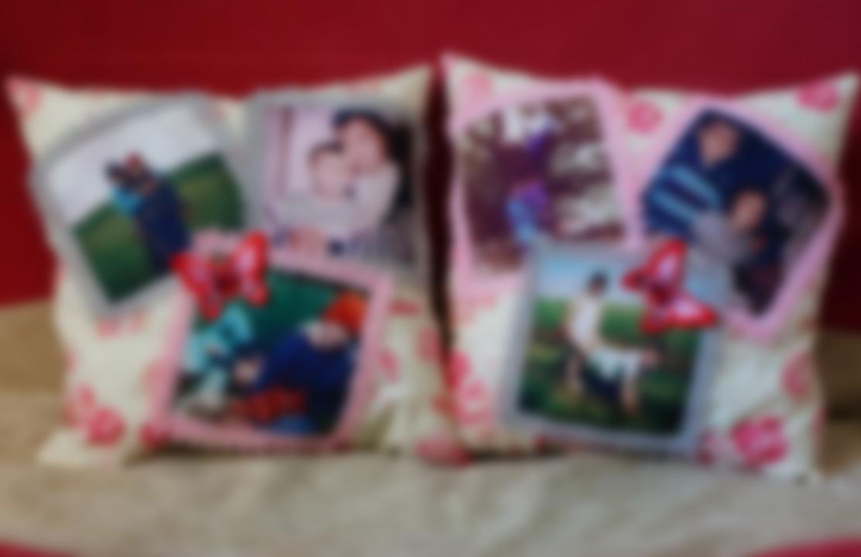 подушка в подарок с фотографиями периоды были