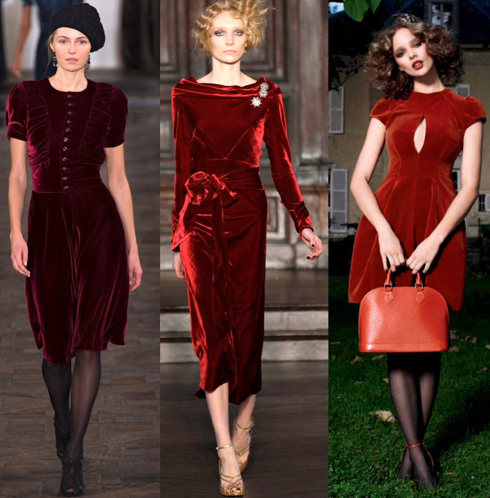 бархатные платья 2019 в моде