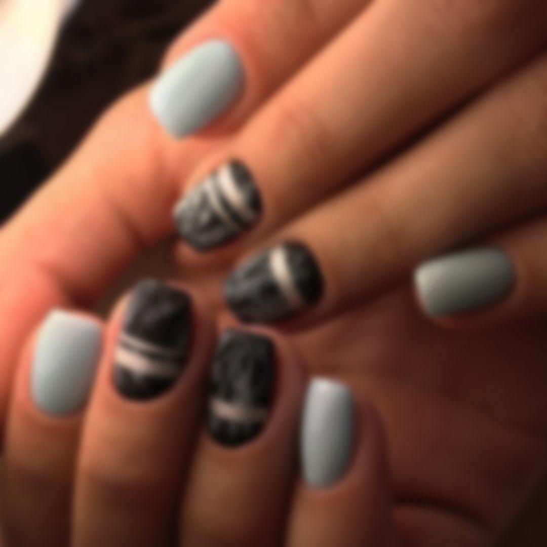 Дизайн ногтей полосы фото