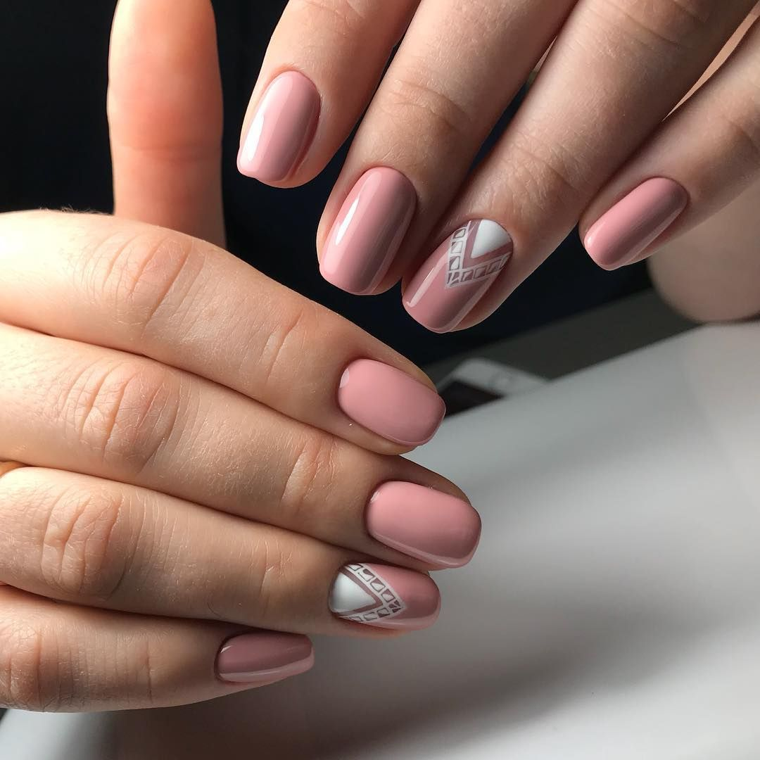 Маникюр на короткие ногти (фото) - дизайн 24, шеллак, весна