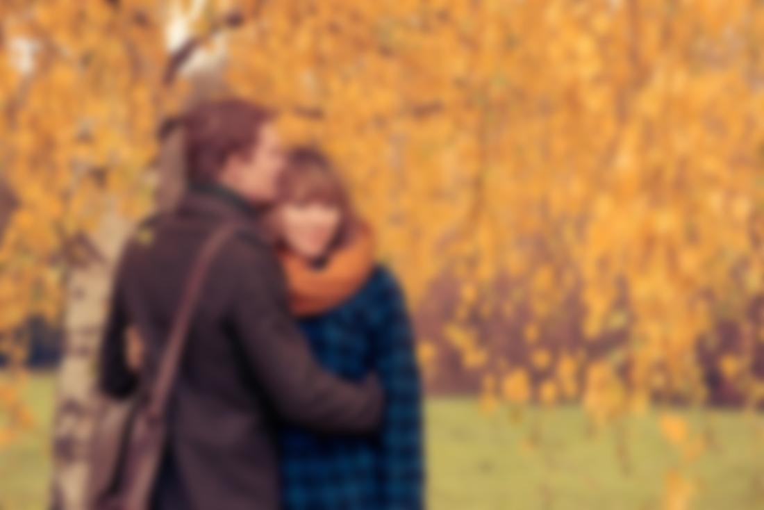Осень картинки влюбленные