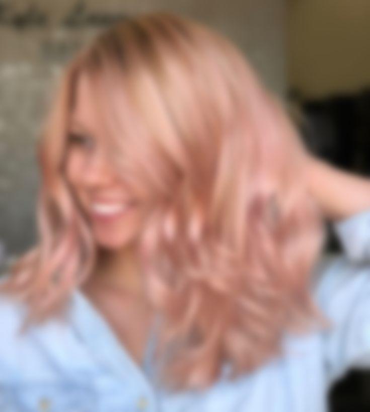 Блонд картинки окрашивание волос с розовым оттенком