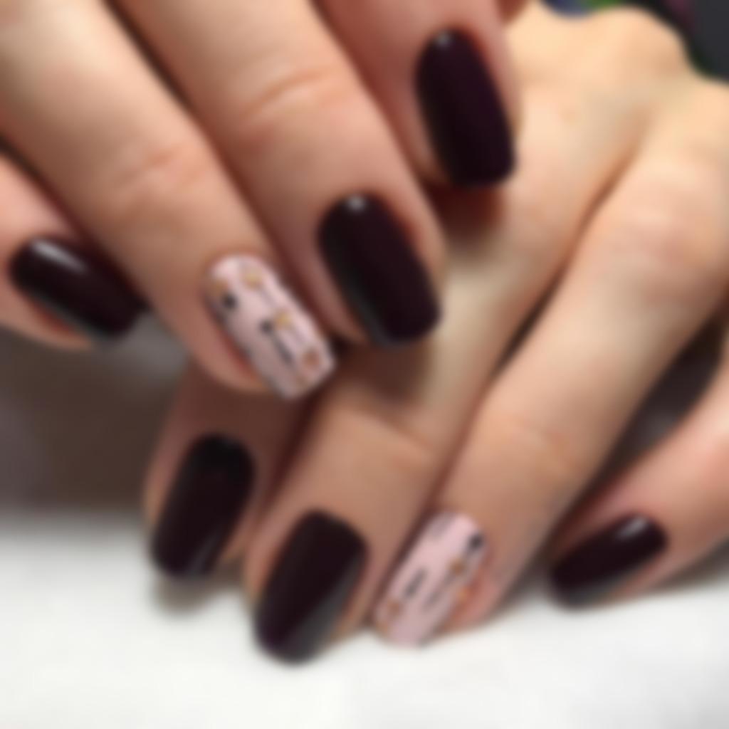 дизайн ногтей осень шеллак фото домашних условиях