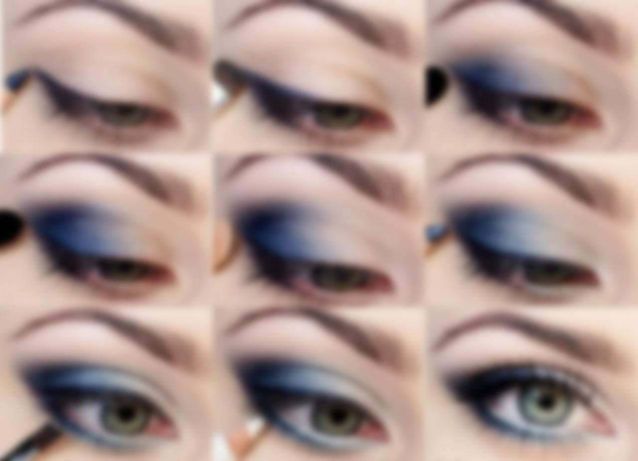 Болотный цвет в макияже