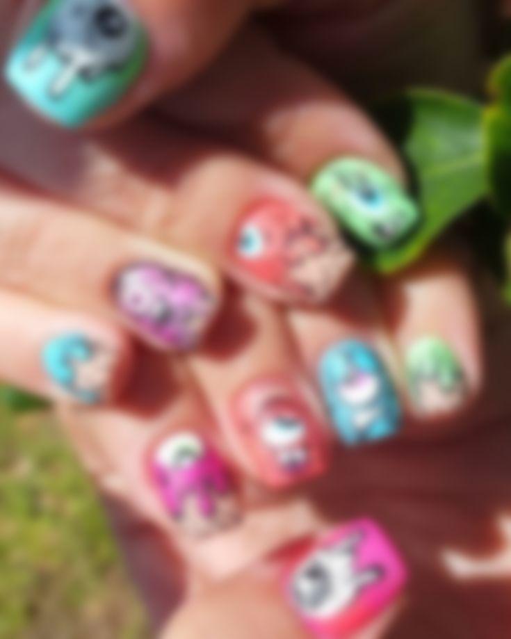 Смешные рисунки на ногтях