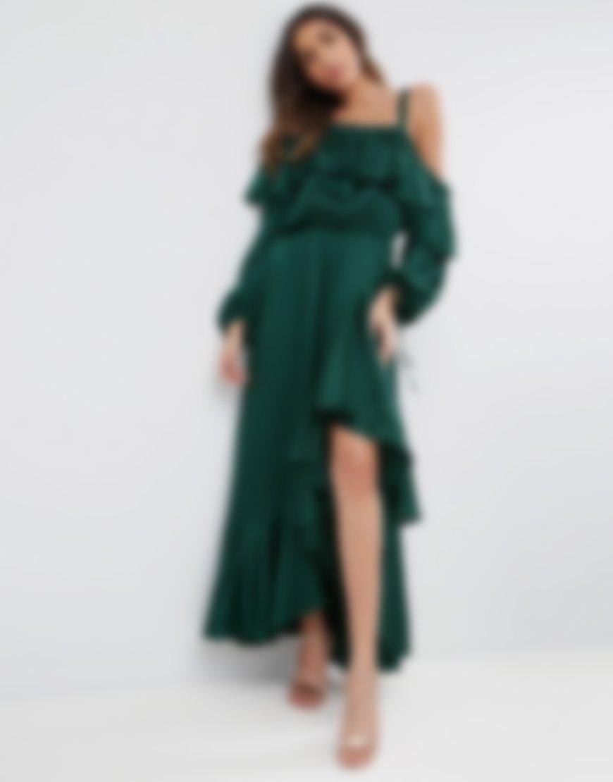 платья с воланами длинные фото романе