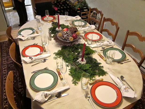 for Christmas lunch table setting ideas