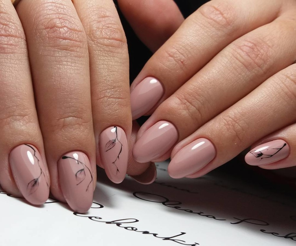 Дизайн ногтей 24, фото: новинки, красивый (осенний)