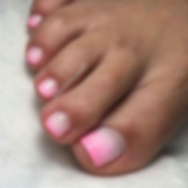 Омбре на ногах