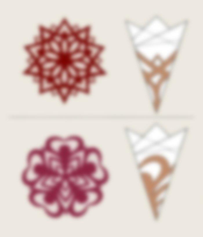 были, красивые снежинки из цветной бумаги схемы для вырезания угроз