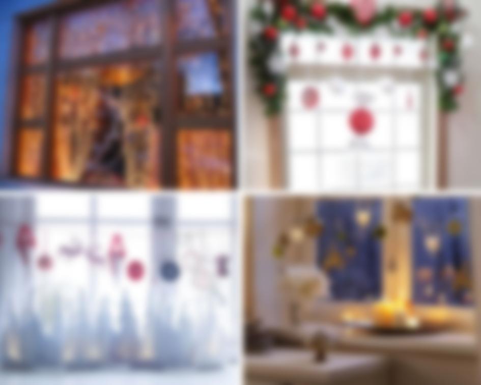 Как украсить окна на новый год фото