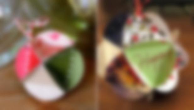 Как сделать новогодний шар своими руками из цветной бумаги