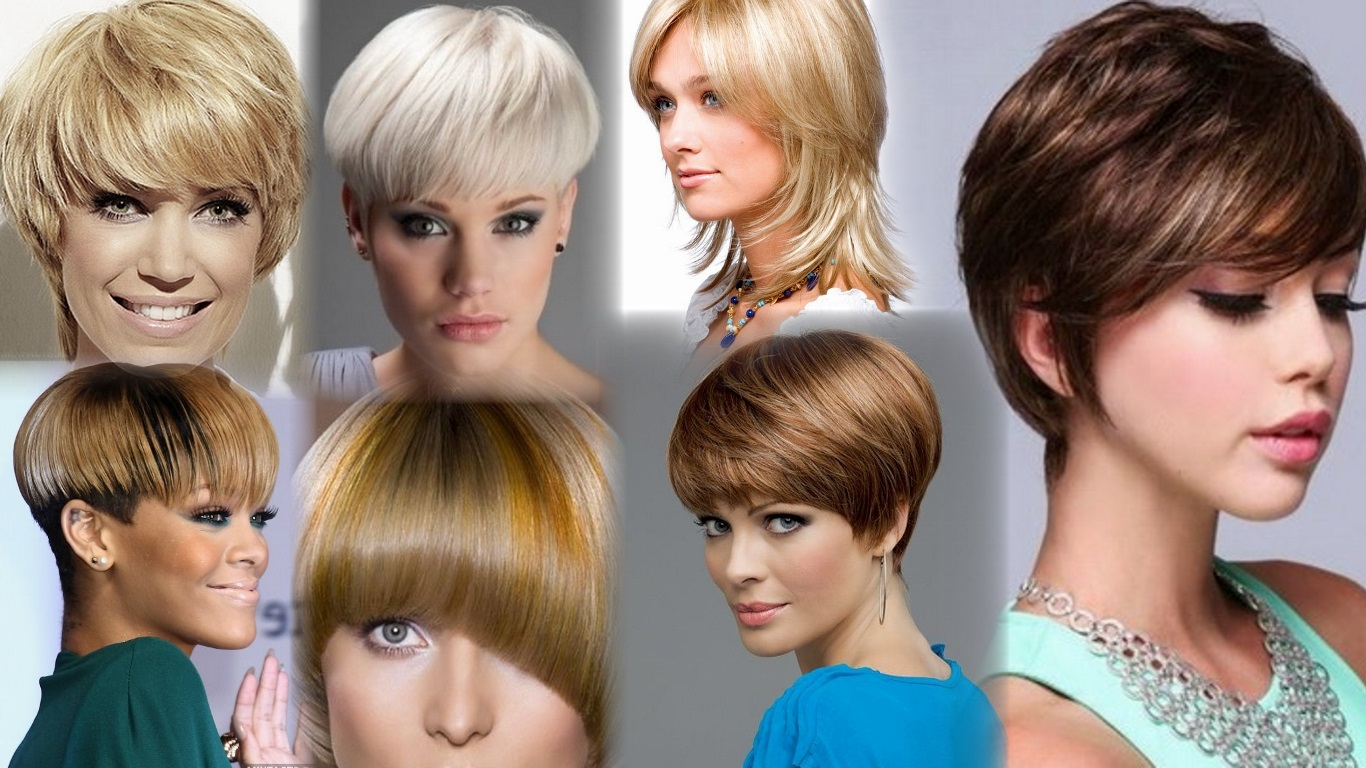 Короткие стрижки женские фото доступно в каталогах и сети интернет на густые волосы предоставляют множество вариантов для выбора.