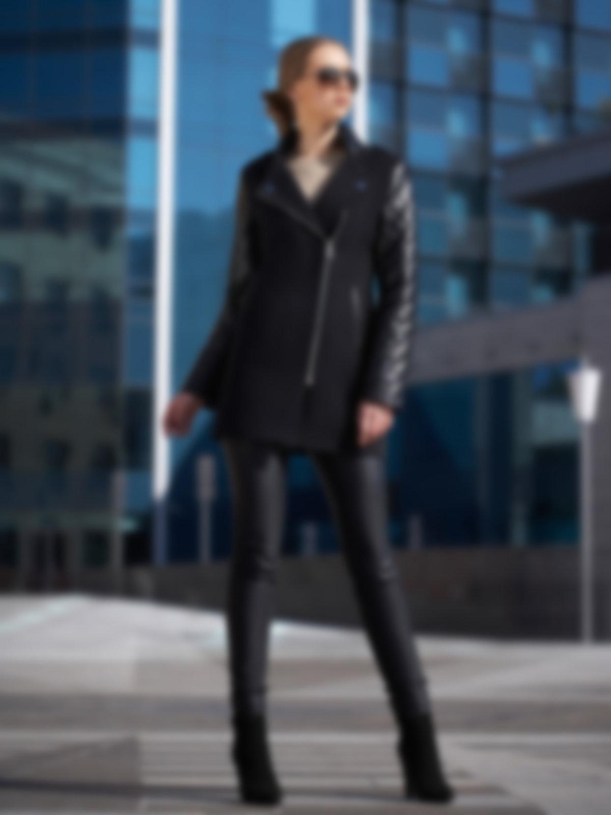 картинки пальто с кожаными рукавами это показатели
