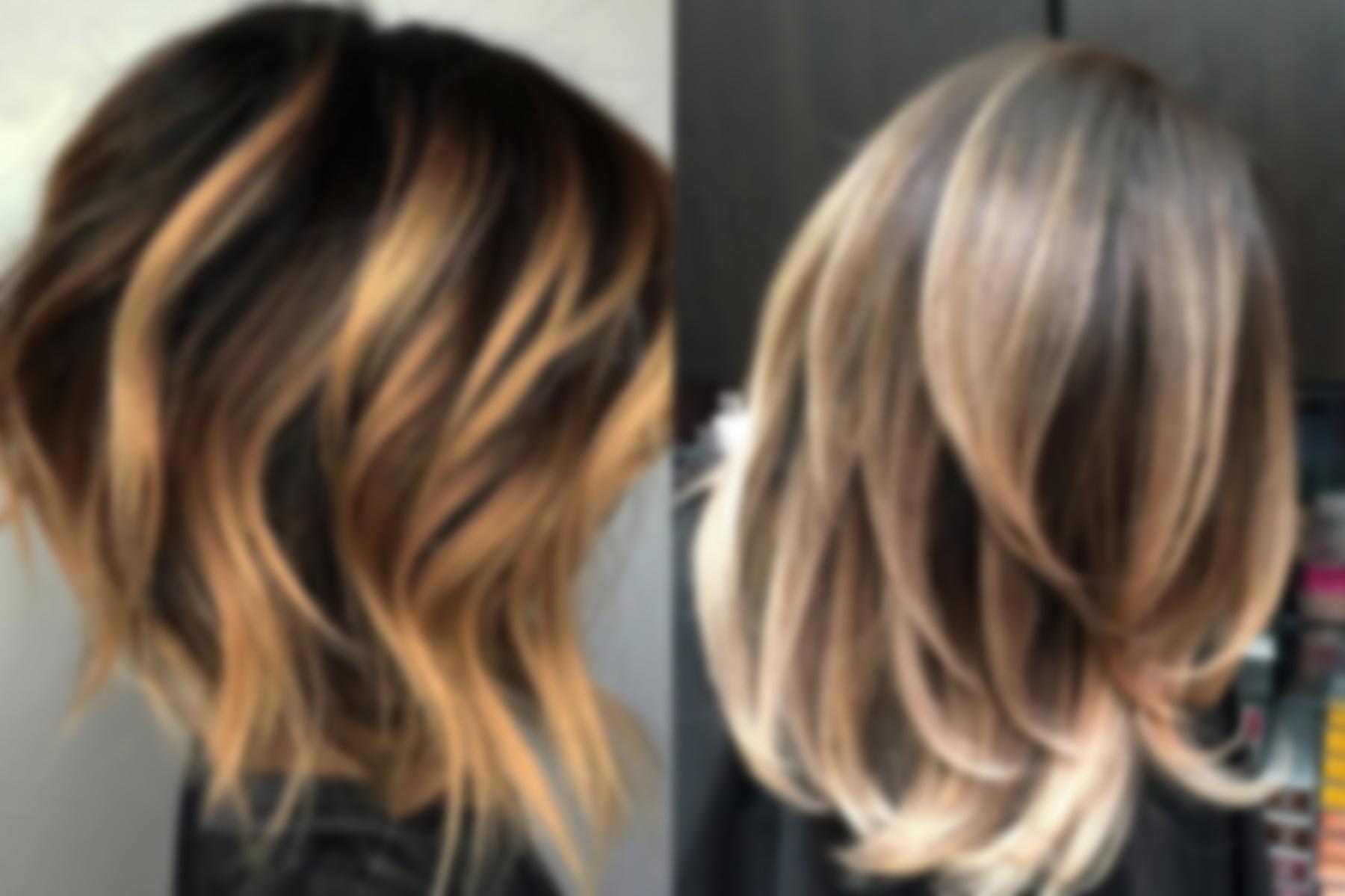 графический окраска волос балаяж фото на средние волосы цене одного платья