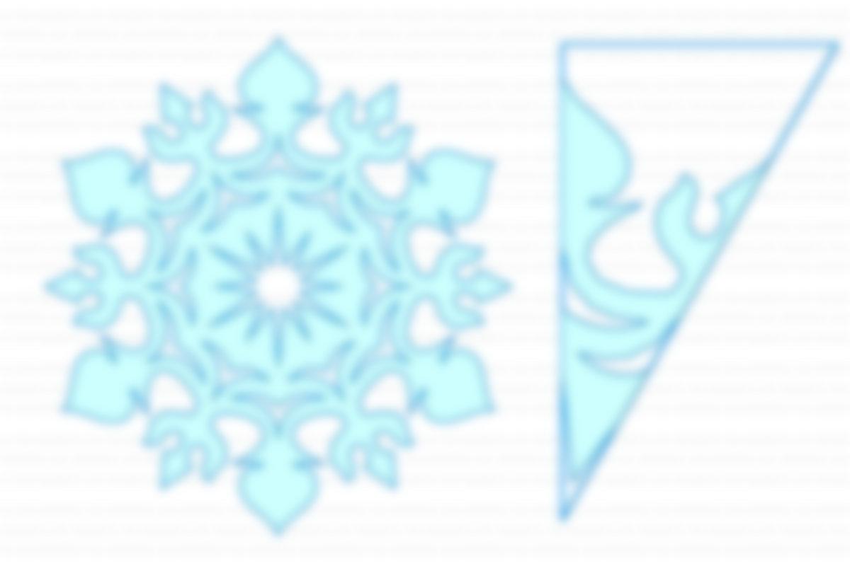Красивые картинки снежинок вырезать