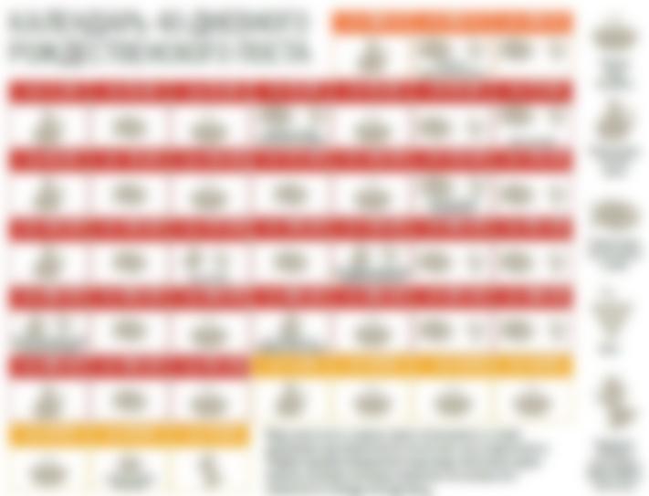 """Рождественский пост 2018-2019: календарь питания для мирян"""""""