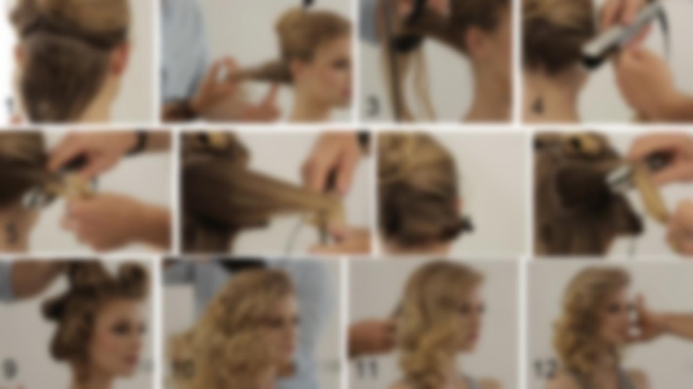Укладка волос стружка пошаговое фото