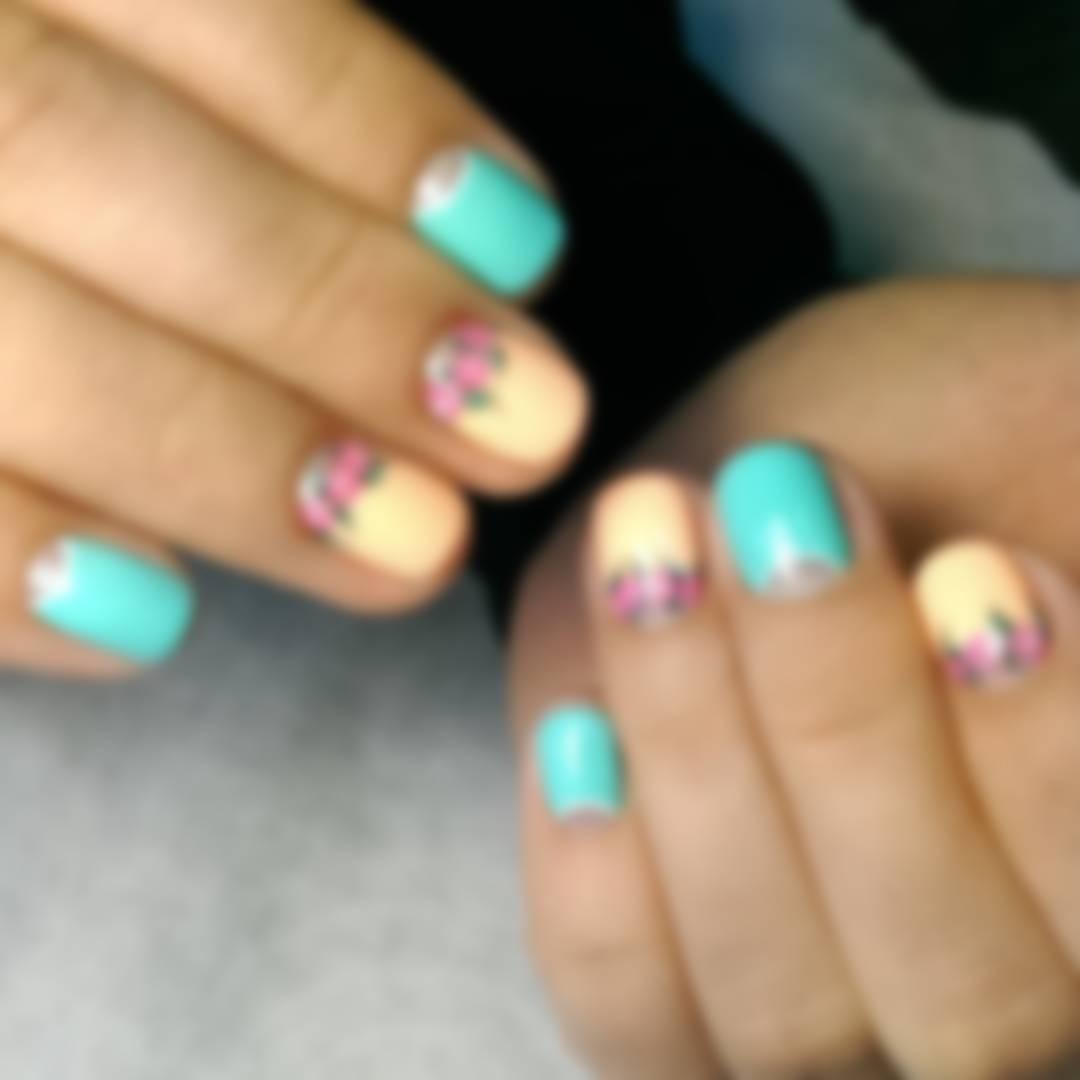 Фото гель-лака на ногтях - дизайн 24: на короткие ногти