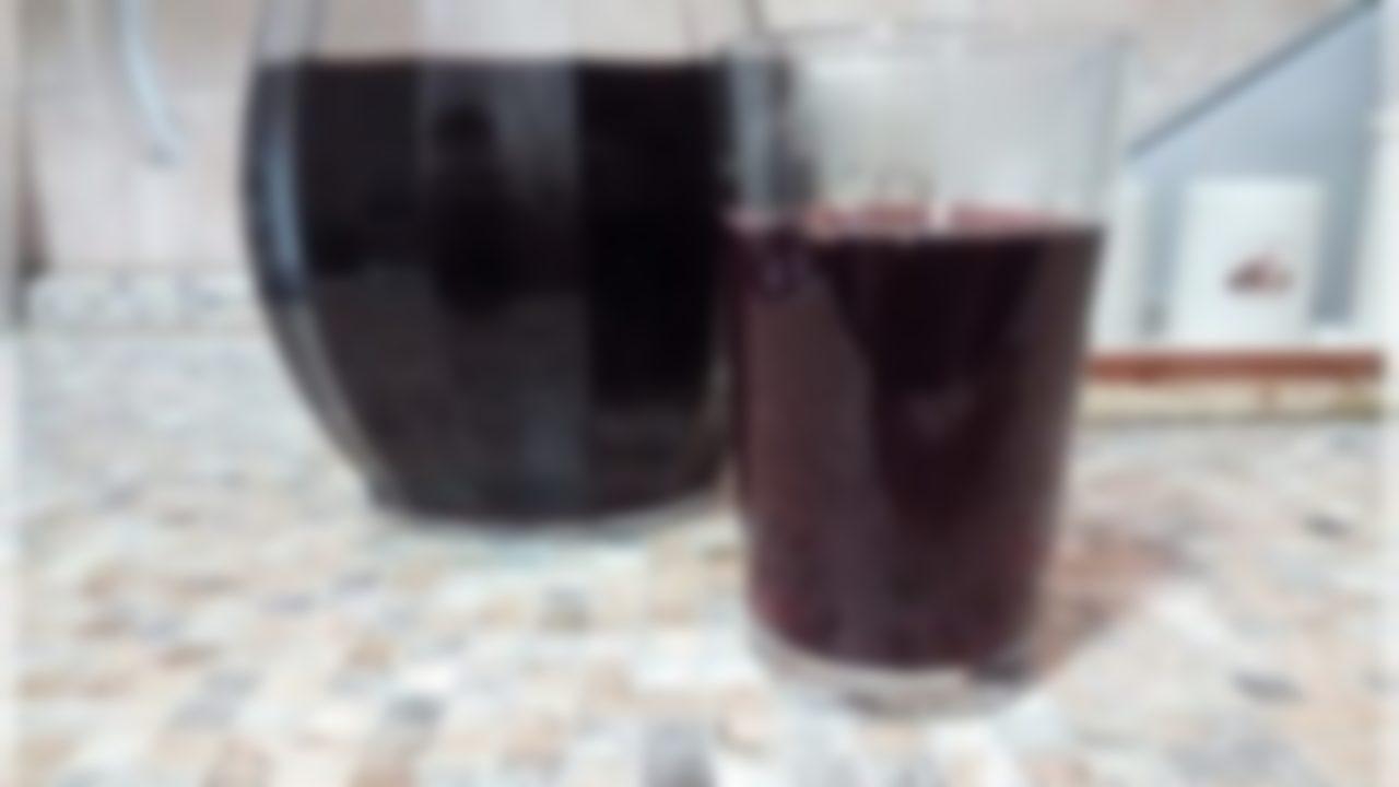 Компот из винограда и черноплодной рябины - рецепт пошаговый с фото