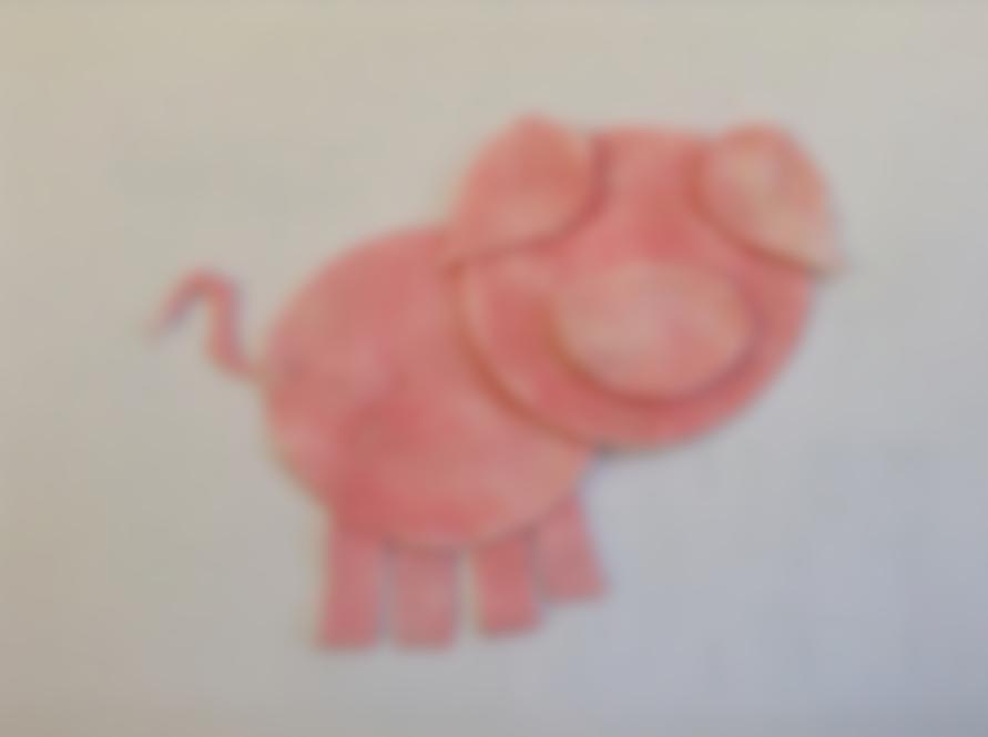 Новогодняя открытка свинка из ватных дисков своими руками для детей, картинки