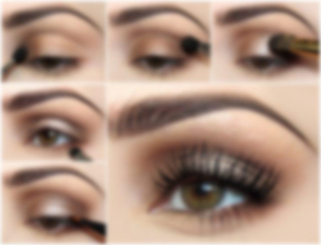 пошаговые картинки макияжа глаз