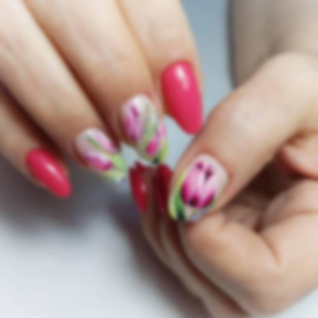 Дизайн ногтей с тюльпанами фото подойдет
