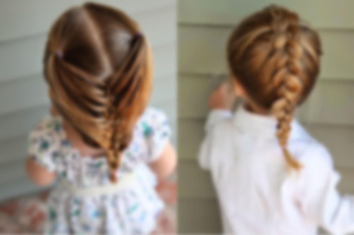 Быстрая детская прическа для коротких волос.