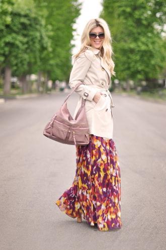 Как носить юбки с плащом