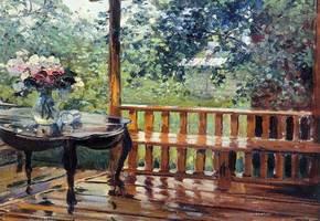 Сочинение по картине Герасимова «После дождя» для 6-го класса