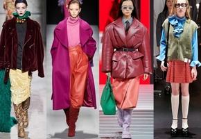 Модные цвета в одежде осень-зима 2021-2022 гг.