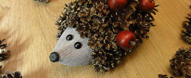 62462_34190018_612 Поделки из шишек и пластилина для детей, сова из шишки и пластилина своими руками, сова и ежик для ребенка