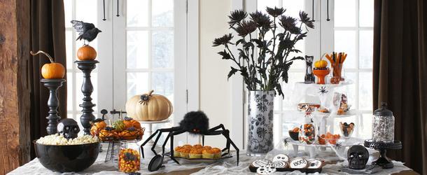 Украшение стола на хэллоуин своими руками