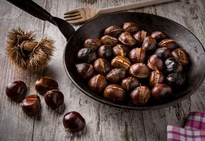 Рецепты жареных каштанов на сковороде