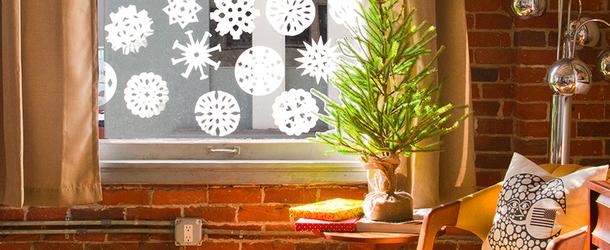 Красивые украшения на окна к новому году