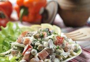 Очень вкусный салат из свиного сердца