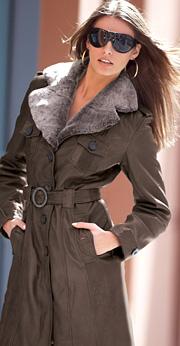 кожаное пальто женское.