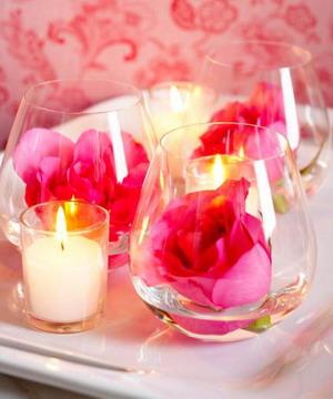 Свечи и цветы