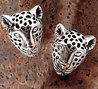 Dian Malouf, Leopard Earrings
